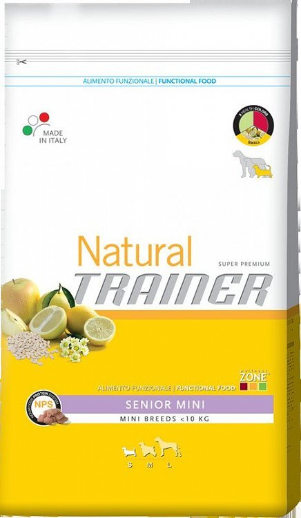 Сухой корм Trainer Natural Senior Mini для стареющих собак мелких пород старше 8 лет