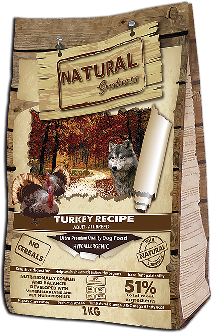 Сухой корм Natural Greatness Turkey Recipe для собак